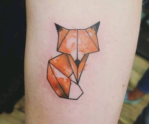 fox, fox tattoo, and geometric image