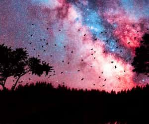 wallpaper, galaxy, and sky image