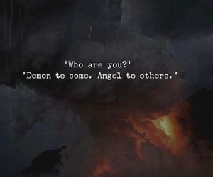 quotes, demon, and angel image