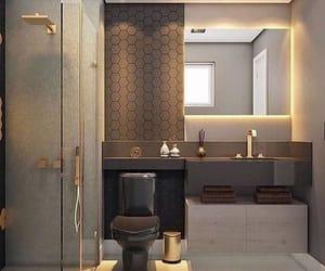 bath, brown, and design image