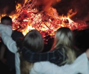 bonfire, friend, and the hunna image