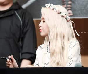 blonde hair, idols, and korean image