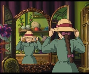 hat, anime, and howl's moving castle image