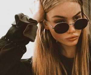 girl, sunglasses, and model image