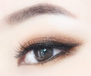 makeup, asian, and eyes image