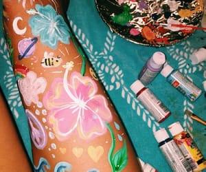 diy, flowers, and legs image