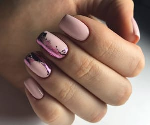 nails, manicure, and pink image