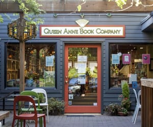 books, courtyard, and seattle image