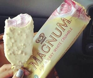 ice cream, food, and strawberry image