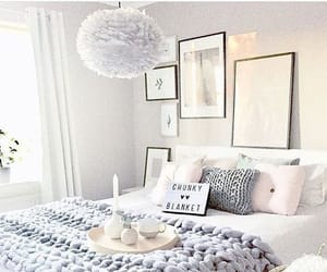 bedroom, home decor, and white image