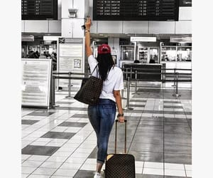 airport, girl, and balkan image