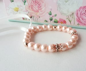etsy, pearl jewelry, and ribbon bracelet image