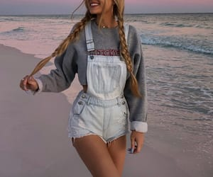 style, beach, and girl image