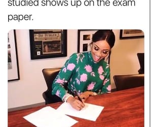 exam, college, and funny image