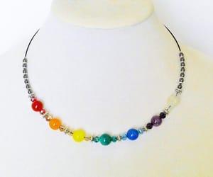 etsy, choker necklace, and 7 chakra jewelry image