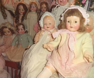 antique, lace, and dolls image