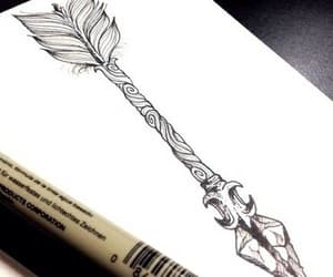 arrow, drawing, and tattoo image