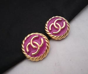 etsy, vintage chanel, and chanel earrings image