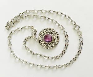 amethyst, estate jewelry, and gemstone pendant image