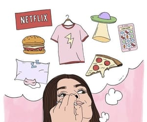 girl, wallpaper, and netflix image