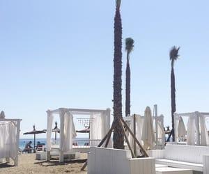 beach, sky, and spain image