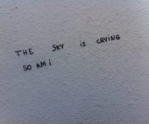 sky, grunge, and sad image