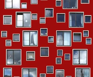 architecture, facade, and red image