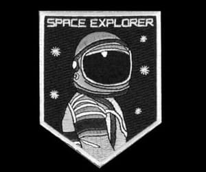 astronaut, space, and patch image