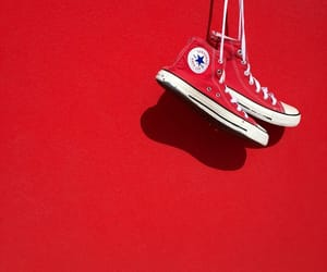 converse, minimalism, and red image