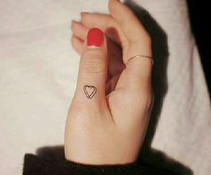 heart tattoo, little heart, and minimalist tattoos image