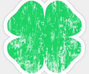 four leaf clover, good luck, and irish image