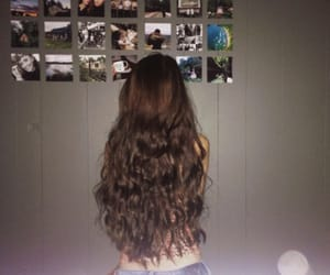 brunette, curly, and fashion image