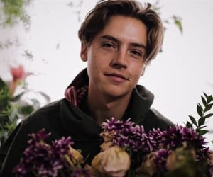 cole sprouse, flowers, and boy image