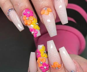 flowers, nail art, and unhas image