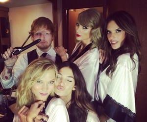 Taylor Swift, ed sheeran, and Karlie Kloss image