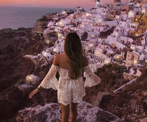 girl, Greece, and outfit image