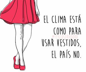 vestidos, clima, and frases image