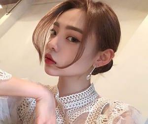asian girl, kfashion, and white image