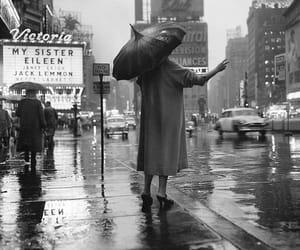 1955, new york, and rain image