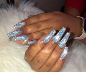 nails, blue, and claws image