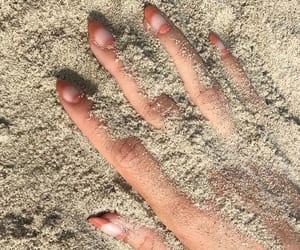 beach, beige, and hand image