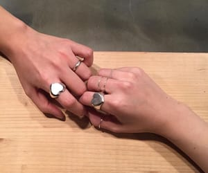 hand in hand, rings, and holding image