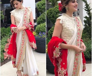 bollywood saree blouse, fashion in india, and taapsee pannu in sarees image