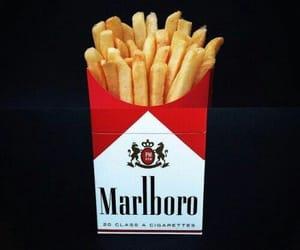 marlboro, fries, and smoke image