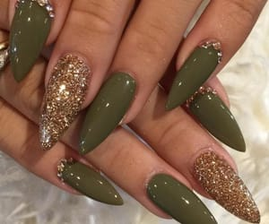 claws, green, and glitter image