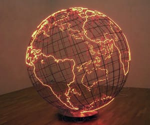 light, world, and globe image