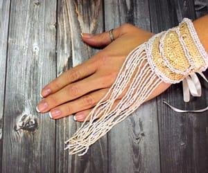 bridal, christmas, and gloves image