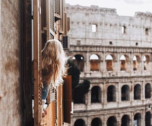 girl, italy, and rome image