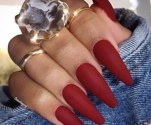 red, nails, and fashion image