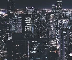 city, city lights, and places image